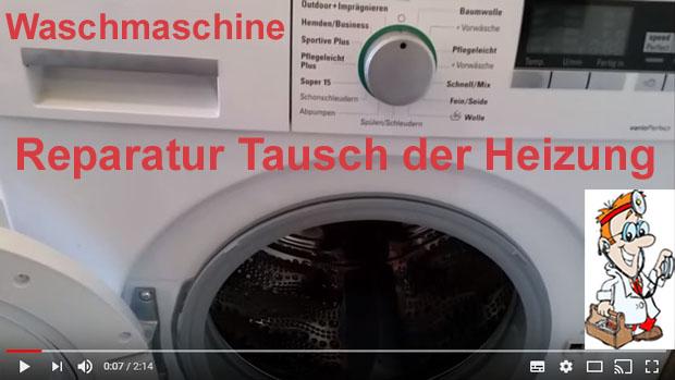 Die funktionierende waschmaschine u reparatur tausch der heizung